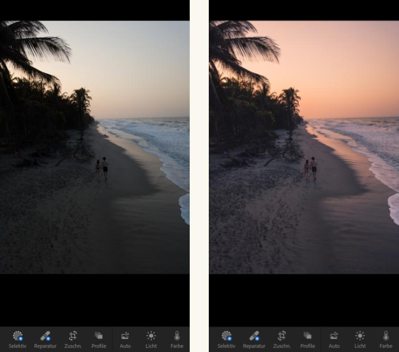 Bildbearbeitungsapp Lightroom Smartphone