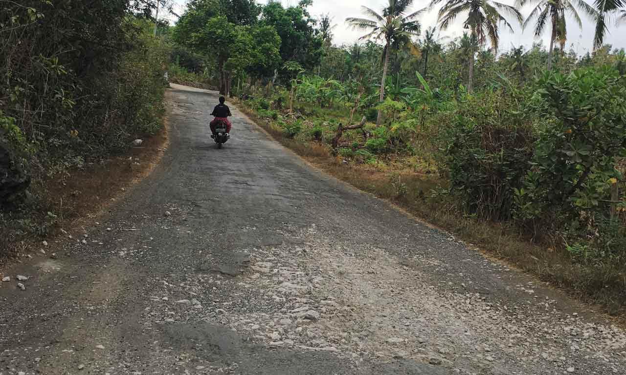 Nusa Penida Straßenbedingungen