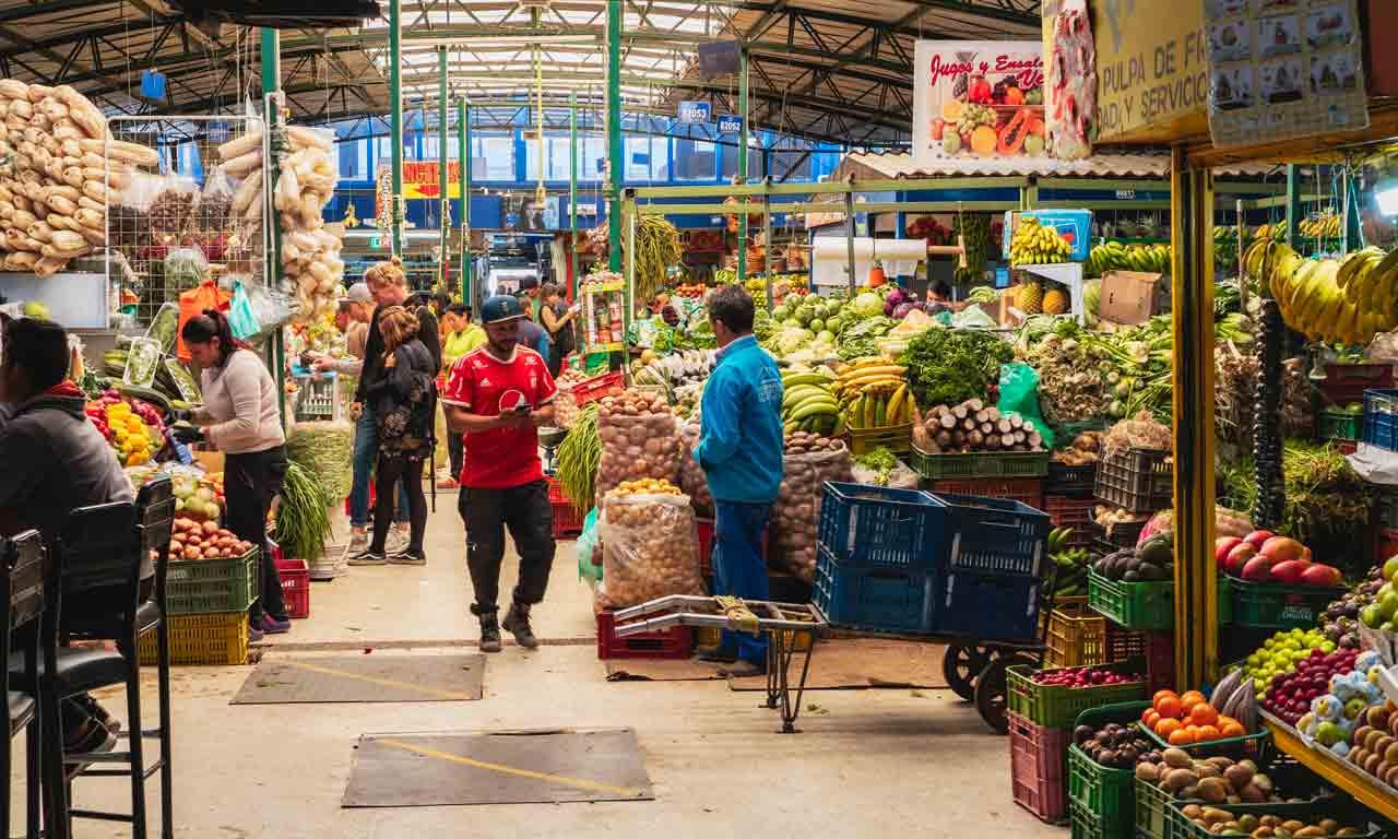 Obstmarkt Paloquemao Kolumbien