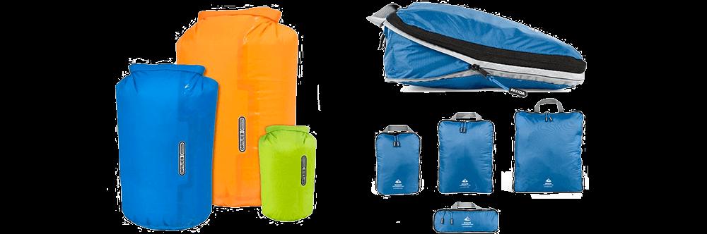 Packsäcke und Packwürfel