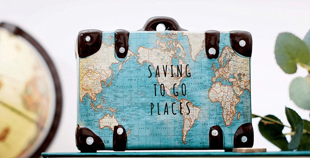Spardose für Reisende